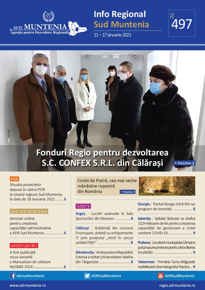 A apărut buletinul informativ Info Regional Sud Muntenia nr. 497!