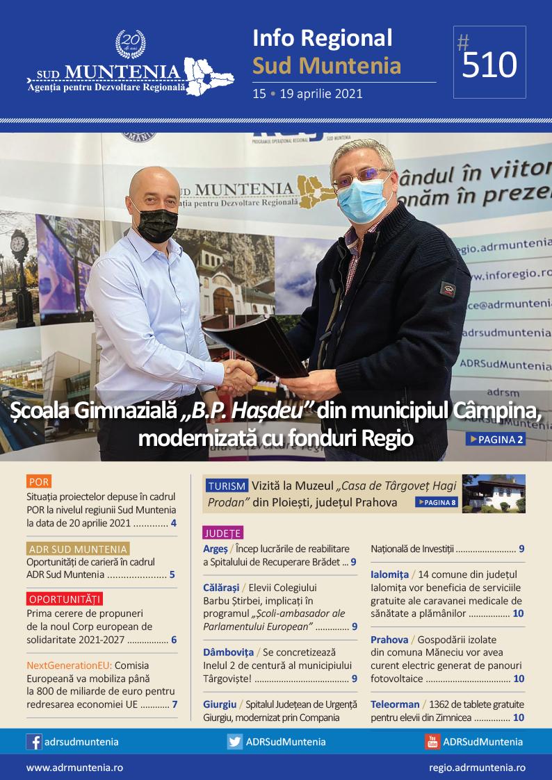 A apărut buletinul informativ Info Regional Sud Muntenia nr. 510!