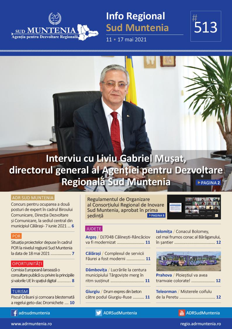 A apărut buletinul informativ Info Regional Sud Muntenia nr. 513!