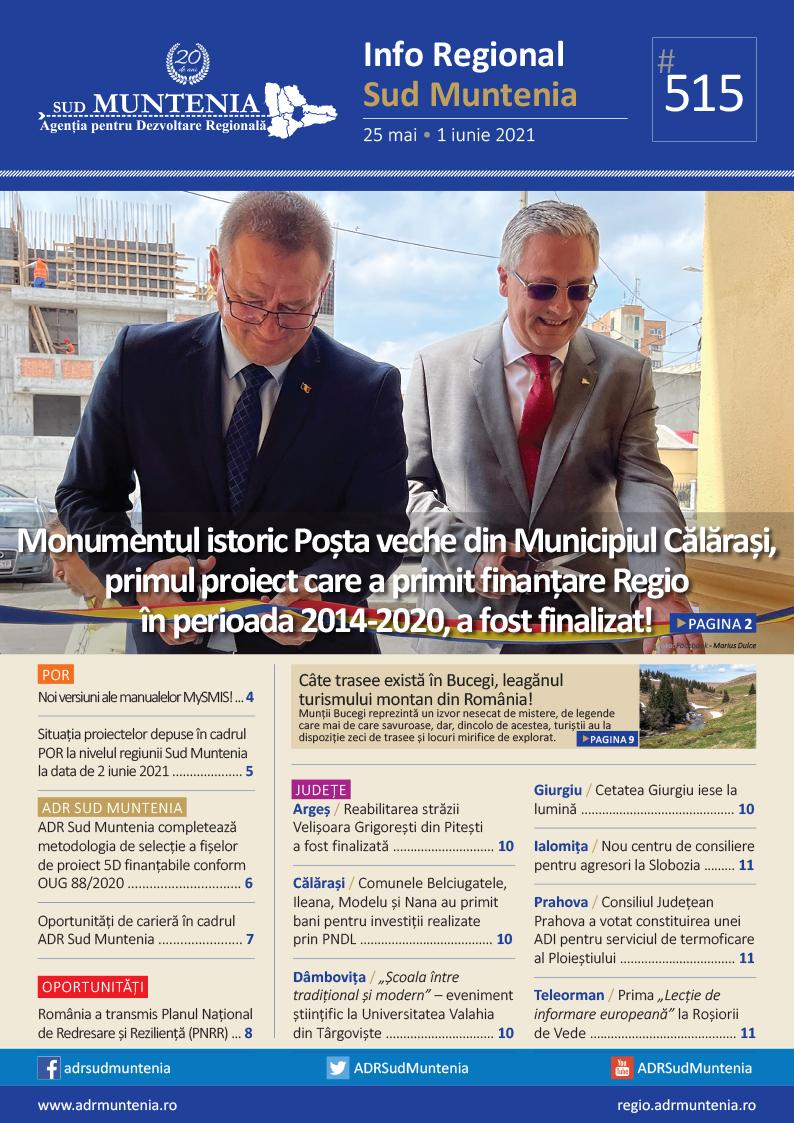 A apărut buletinul informativ Info Regional Sud Muntenia nr. 515!