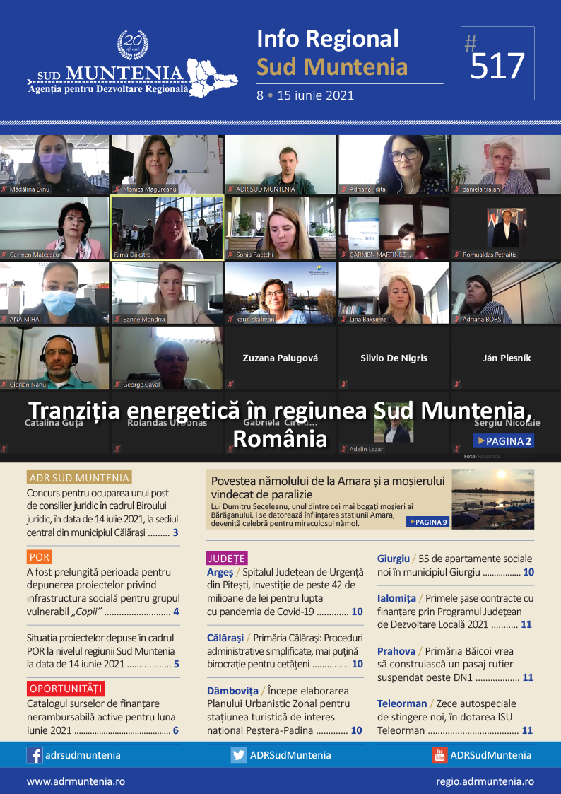 A apărut buletinul informativ Info Regional Sud Muntenia nr. 517!