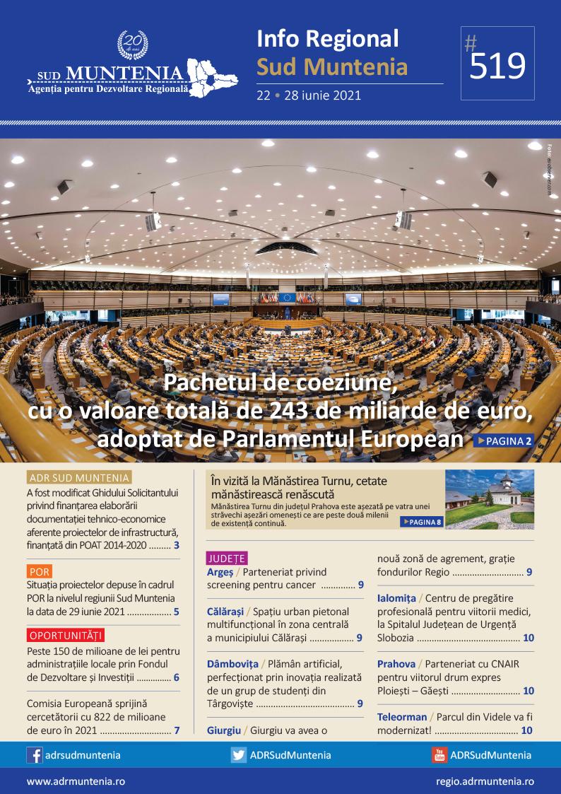 A apărut buletinul informativ Info Regional Sud Muntenia nr. 519!