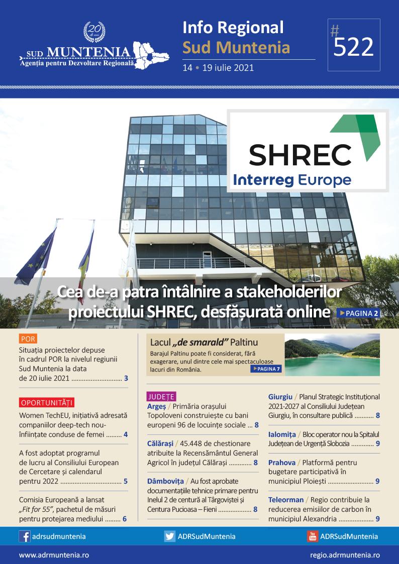 A apărut buletinul informativ Info Regional Sud Muntenia nr. 522!
