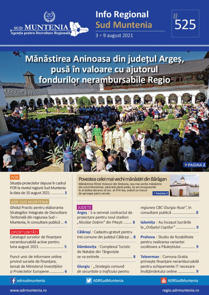 A apărut buletinul informativ Info Regional Sud Muntenia nr. 525!