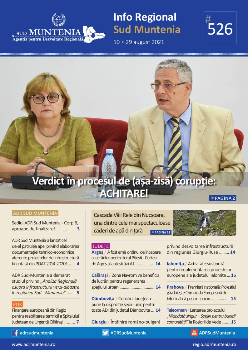 A apărut buletinul informativ Info Regional Sud Muntenia nr. 526!